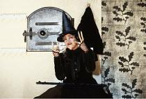 INTO THE WOODS   music & lyrics: Stephen Sondheim   book: James Lapine   director: Richard Jones <br>,Julia McKenzie (Witch)   ,Phoenix Theatre, London WC2                   14/09/1990,