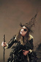 INTO THE WOODS   music & lyrics: Stephen Sondheim   book: James Lapine   ,director: John Crowley   design: Bob Crowley <br>,Clare Burt (Witch)  ,Donmar Warehouse, London WC2             16/11/1998,