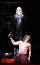 DON GIOVANNI   music: Mozart   libretto: da Ponte   original director: Francesca Zambello   ,design: Maria Bj�rnson   lighting: Paul Pyant <br>,Giovanni descends to hell: Erwin Schrott (Don Giovanni),...