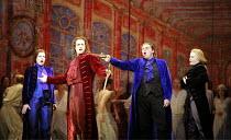 DON GIOVANNI   music: Mozart   libretto: da Ponte   original director: Francesca Zambello   design: Maria Bj�rnson   lighting: Paul Pyant <br>,l-r: Ana Mar�a Mart�nez (Donna Elvira), Erwin Schrott (Do...