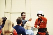 Peter Sellars ,American theatre, stage, drama, opera director   centre, rehearsing Handel's 'Theodora' at Glyndebourne 1996 ,   ,
