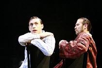 TWELFTH NIGHT   by Shakespeare   director: Neil Bartlett <br>,l-r: Chris New (Viola), Jason Merrells (Orsino),Royal Shakespeare Company / Courtyard Theatre, Stratford-upon-Avon, England     05/09/2007...