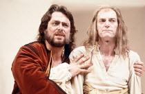 TWELFTH NIGHT   by Shakespeare   design: Kit Surrey   costumes: Deirdre Clancy   director: Bill Alexander <br>,l-r: Roger Allam (Sir Toby Belch), David Bradley (Sir Andrew Aguecheek),Royal Shakespeare...