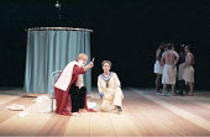 TWELFTH NIGHT   by Shakespeare   design: Anthony Ward   director: Adrian Noble <br>,Scott Handy (Orsino), Helen Schlesinger (Viola)   ,Royal Shakespeare Company (RSC) / Royal Shakespeare Theatre   Str...