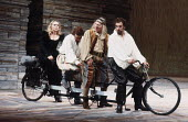 THE TAMING OF THE SHREW   by Shakespeare   design: Bob Crowley   director: Barry Kyle <br>,IV/v - on the road to Padua - l-r: Sinead Cusack (Katherina), Ian Talbot (Hortensio), Pete Postlethwaite (Gru...