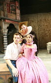 THE TAMING OF THE SHREW   by Shakespeare   ,set design: Francis O^Connor   costumes: Joan O^Clery   director: Conall Morrison <br>,III/i: Patrick Moy (Lucentio), Sean Kearns (Hortensio), Amara Karan (...