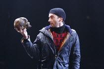 Hamlet with skull