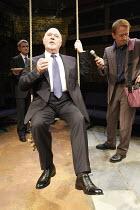LEAVING   by Vaclav Havel   director: Sam Walters ~l-r: David Antrobus (Victor), Robert Austin (Patrick Klein), Mike Sengelow (Dick)~Orange Tree Theatre, Richmond, Surrey, England         23/09/2008