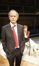 LEAVING   by Vaclav Havel   director: Sam Walters ~Geoffrey Beevers (Dr. Vilem Rieger), Carolyn Backhouse (Irena)~Orange Tree Theatre, Richmond, Surrey, England         23/09/2008