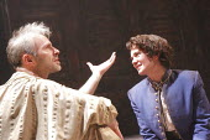 TWELFTH NIGHT   by Shakespeare   design: Christopher Oram   lighting: Neil Austin   director: Michael Grandage ~Mark Bonnar (Orsino), Victoria Hamilton (Viola)   ~Donmar West End at Wyndham's Theatre,...