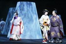 TWELFTH NIGHT   after Shakespeare   stage design: Yuichiro Kanai   lighting: Jiro Katsushiba   director: Yukio Ninagawa ~l-r: Nakamura Kanjaku V (Sir Andrew Aguecheek), Ichikawa Kamejiro II (Maria), I...