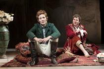 TWELFTH NIGHT   by Shakespeare   design: Robert Jones   lighting: Tim Mitchell   director: Gregory Doran ~Nancy Carroll (Viola), Jo Stone-Fewings (Orsino)   ~Royal Shakespeare Company (RSC) / Courtyar...