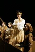 RICHARD II   by Shakespeare   design: Hildegard Bechtler   lighting: Peter Mumford   director: Deborah Warner ~centre: Fiona Shaw (Richard II)   right: Julian Rhind-Tutt (Edward, Duke of Aumerle)   ~C...