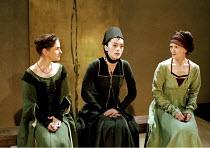 RICHARD II   by Shakespeare   design: Hildegard Bechtler   lighting: Peter Mumford   director: Deborah Warner ~III/iv - l-r: Elaine Caxton (Serving Lady), Brana Bajic (Queen Isabel), Paola Dionisotti...