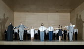 CASTOR AND POLLUX   by Rameau   conductor: Christian Curnyn   design: Katrin Lea Tag   lighting: Franck Evin   director: Barrie Kosky   curtain call, l-r: Andrew Rupp (High Priest of Jupiter), Henry...