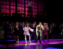 COMPANY   music & lyrics: Stephen Sondheim   design: Christopher Oram   lighting: Neil Austin   director: Jonathan Munby ~front centre: Samantha Spiro (Amy), Daniel Evans (Robert)~Crucible Theatre / S...