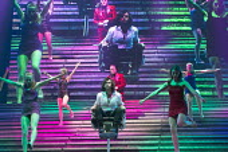 JESUS CHRIST SUPERSTAR   music: Andrew Lloyd Webber   lyrics: Tim Rice   design: Mark Fisher   lighting: Patrick Woodroffe   director: Laurence Connor ~centre: (front) Ben Forster (Jesus), (rear) Chri...