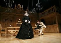 TWELFTH NIGHT   by Shakespeare   design: Jenny Tiramani   lighting: David Plater   director: Tim Carroll ~V/i - l-r: Mark Rylance (Olivia), Johnny Flynn (Viola)~Shakespeare's Globe production / Apollo...