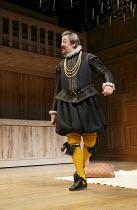 TWELFTH NIGHT   by Shakespeare   design: Jenny Tiramani   lighting: David Plater   director: Tim Carroll ~III/iv: Stephen Fry (Malvolio)~Shakespeare's Globe production / Apollo Theatre, London W1   17...
