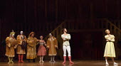 THE TAMING OF THE SHREW   after Shakespeare   choreography: John Cranko   music: Scarlatti  sets & costumes: Elisabeth Dalton ~l-r: Ozkan Ayik (Gremio), Roman Novitzky (Hortensio), Ronaldo D'Alesio (F...