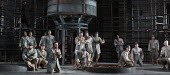 FIDELIO   by Beethoven   conductor: Douglas Boyd   design: Gary McCann   lighting: Howard Hudson   director: John Cox ~prisoners~Garsington Opera at Wormsley / Oxford, England   06/06/2014