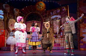 DICK WHITTINGTON AND HIS CAT   written by Tom Wells   set design: Oliver Townsend   costumes: Katie Lias   lighting: Tim Deiling   choreography: Lainie Baird   director: Dan Herd front, l-r: Stewart W...