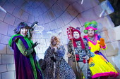 DICK WHITTINGTON AND HIS CAT   written by Tom Wells   set design: Oliver Townsend   costumes: Katie Lias   lighting: Tim Deiling   choreography: Lainie Baird   director: Dan Herd l-r: Tiffany Graves (...