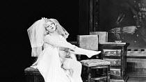 THE RULING CLASS   by Peter Barnes   design: John Napier   lighting: Robert Ornbo   choreography: Eleanor Fazan   director: Stuart Burge Vivienne Martin (Grace Shelley) Nottingham Playhouse 1968 produ...