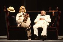 TWELFTH NIGHT by Shakespeare design: Ultz lighting: Mick Hughes director: Griff Rhys Jones l-r: Tim McInnerny (Sir Andrew Aguecheek), Bill Wallis (Sir Toby Belch)Royal Shakespeare Company (RSC), Royal...