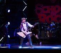 Toby Lee (Zack) in SCHOOL OF ROCK The Musical by Andrew Lloyd Webber opening at the New London Theatre, London WC2 on 14/11/2016 composer: Andrew Lloyd Webber book: Julian Fellowes lyrics: Glenn Slate...