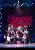 centre: David Fynn (as Dewey Finn - adult) in SCHOOL OF ROCK The Musical by Andrew Lloyd Webber opening at the New London Theatre, London WC2 on 14/11/2016 composer: Andrew Lloyd Webber book: Julian F...