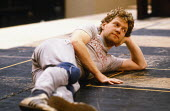 Kenneth Branagh rehearsing the role of Laertes in the 1984 Royal Shakespeare Company (RSC) production of HAMLET   design: Maria Bjornson lighting: Chris Ellis fights director: Malcolm Ranson director:...