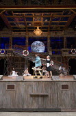 centre: Tony Jayawardena (Sir Toby Belch), Carly Bawden (Maria) in TWELFTH NIGHT by Shakespeare opening at Shakespeare's Globe, London SE1 on 24/05/2017 design: Lez Brotherston lighting: Malcolm Rippe...