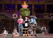 l-r: Marc Antolin (Sir Andrew Aguecheek), Carly Bawden (Maria), Tony Jayawardena (Sir Toby Belch) in TWELFTH NIGHT by Shakespeare opening at Shakespeare's Globe, London SE1 on 24/05/2017 design: Lez B...