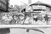 artwork on Emerson Street, London SE1 hoarding illustrating the 1973 John Player Bankside Globe season, with performance tent canopy in the background Donald Cooper/Photostage  photos@photostage.co.uk...