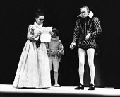 TWELFTH NIGHT by Shakespeare design: William Dudley lighting: Rory Dempster director: Peter Gill Mary Rutherford (Olivia), Nicol Williamson (Malvolio) Royal Shakespeare Company (RSC), Royal Shakespear...