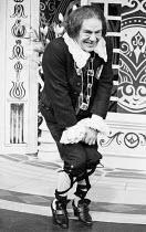 TWELFTH NIGHT by Shakespeare  design: Peter Rice  lighting: Graham Phoenix  director: John Cox Max Wall (Malvolio)Greenwich Theatre, London SE10   10/03/1977                 (c) Donald Cooper/Photosta...