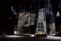 FOLLIES  music & lyrics by Stephen Sondheim book: James Goldman  design: Vicki Mortimer lighting: Paule Constable  choreography: Bill Deamer  director: Dominic Cooke stage,full,empty,set,building,dere...