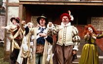 BARTHOLOMEW FAIR  by Ben Jonson  design: Patrick Robertson & Rosemary Vercoe  puppets: Graeme Galvin  director: Peter Barnes front right: Christopher Biggins (Bartholomew Cokes) Open Air Theatre, Rege...