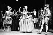 l-r: Philip Sayer (Sir Petronel Flash), Vivienne Ross (Mistress Touchstone), Anita Dobson (Gertrude), Richard O'Brien (Quicksilver) in EASTWARD HO! by Ben Jonson, George Chapman & John Marston which o...