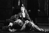 VENICE PRESERV'D or 'A Plot Discovered' by Thomas Otway design: Alison Chitty lighting: Stephen Wentworth director: Peter Gill  Belvidera with the bodies of Jaffier and Pierre: Jane Lapotaire (Belvid...