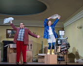 Alexander Robin Baker (Father), Mary Bevan (Coraline) in the world premiere of CORALINE opening at the Barbican Theatre, London EC2 on 29/03/2018  a Royal Opera production music: Mark-Anthony Turnage...