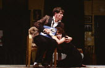 COWARDICE by Sean Mathias set design: Hayden Griffin costumes: Deirdre Clancy lighting: Rory Dempster director: Anthony Page  Ian McKellen (Boy), Janet Suzman (Babe) Ambassador's Theatre, London WC2...