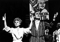 EVITA music: Andrew Lloyd Webber lyrics: Tim Rice design: Tim O'Brien & Tazeena Firth choreography: Larry Fuller director: Harold Prince ~Elaine Paige (Eva), Joss Ackland (Peron)~Prince Edward Theatre...