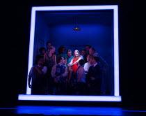 COMPANY music & lyrics: Stephen Sondheim book: George Furth design: Bunny Christie lighting: Neil Austin choreography: Liam Steel director: Marianne Elliott centre: Rosalie Craig (Bobbie) Gielgud Thea...