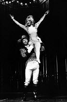 LULU by Frank Wedekind adapted by Peter Barnes set design: Patrick Robertson costumes: Rosemary Vercoe directors: Peter Barnes & Stuart Burge <br>Julia Foster (Lulu) with the RingmasterNottingham Play...