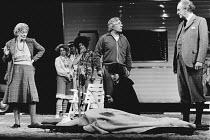 THE FREEWAY by Peter Nichols design: John Bury lighting: Nick Chelton director: Jonathan Miller <br> front, l-r: Rachel Kempson (Nancy), Paul Rogers (Les), (kneeling) Veronica Sowerby (Nurse), Graham...