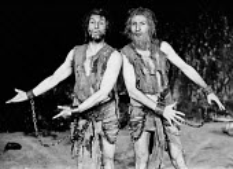 NOONDAY DEMONS by Peter Barnes design: John Napier lighting: Jim Howes director: Charles Marowitz <br>l-r: David Neal (St. Pior), Joe Melia (St. Eusebius)Open Space Theatre, London W1 04/12/1969 (c) D...