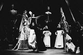 THE BEWITCHED by Peter Barnes music: Guy Woolfenden design: Farrah lighting: Stewart Leviton choreography: John Broome director: Terry Hands <br>upper rear left: Alan Howard (Carlos II) Royal Shakespe...