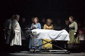 JACK THE RIPPER: The Women of Whitechapel music: Iain Bell libretto: Emma Jenkins conductor: Martyn Brabbins design: Soutra Gilmour lighting: Paul Anderson director: Daniel Kramer <br> autopsy in the...
